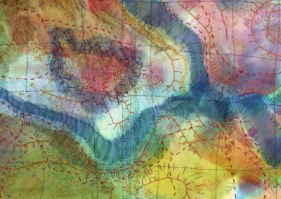 Lady bower textile art