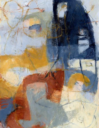 Abstract painting in acrylics: Around Every Corner £490
