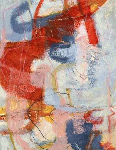 Abstract painting in acrylics: Deciphering the Fire £360