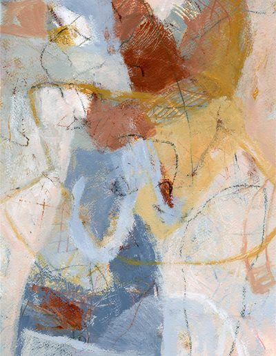 Abstract painting in acrylics: Forgotten Wings £360