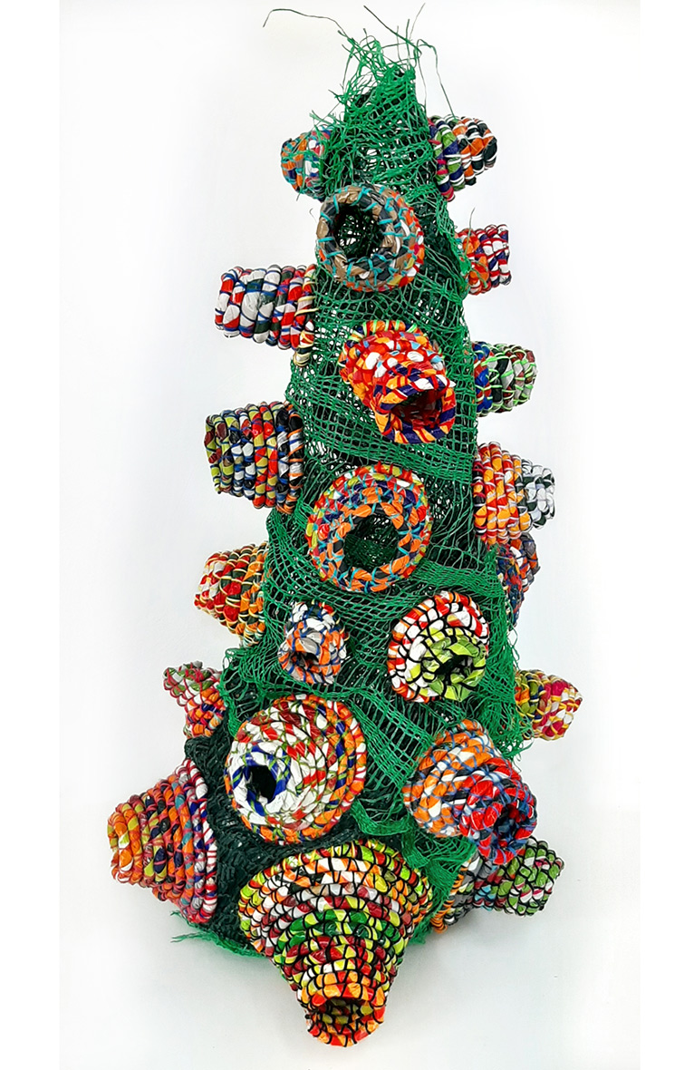 sculpture from plastic waste £400