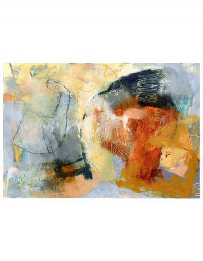 Abstract painting in acrylics: Autumn Mists (SOLD)