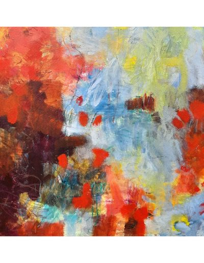 Abstract painting in acrylics: Dancing in the Sun £450