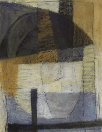 Abstract drawing in oil pastels: It is Already Late £490