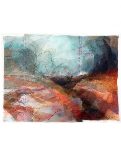 textile artwork Lake District (SOLD)