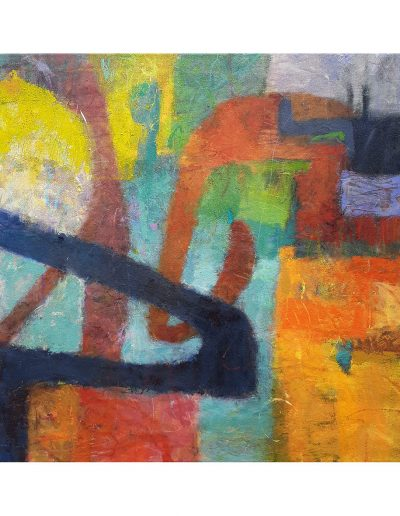 Abstract painting in acrylics: Leaving Their Voices Behind (SOLD)