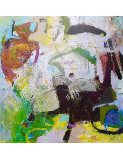 Abstract painting in acrylics: My Feet Keep Looking £450