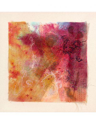 textile artwork, Red £350
