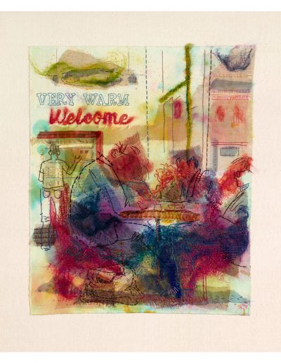textile artwork Very Warm Welcome £520