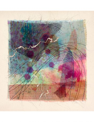 textile artwork Weather in Blue SOLD