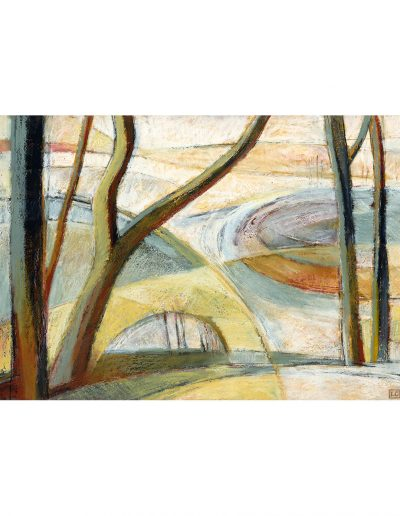 drawing in oil pastel: Whirlow Brook Park £400