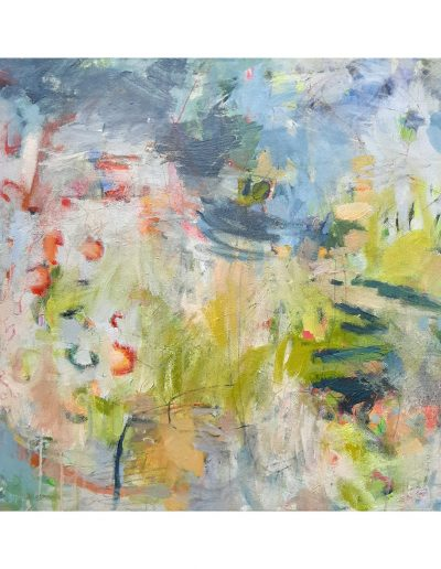 Abstract painting in acrylics: Wild and Precious (SOLD)