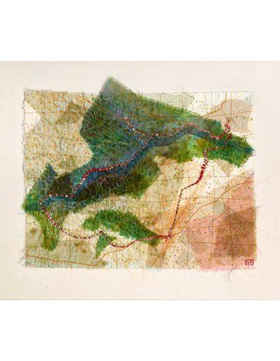textile artwork Walk from Overhaddon (SOLD)